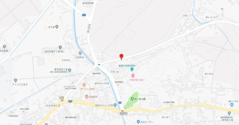map加世田唐仁原宮崎5727番地1