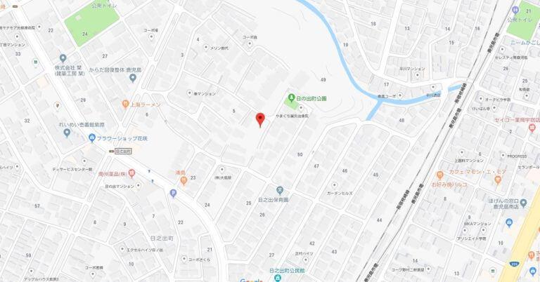 map日之出町3880番