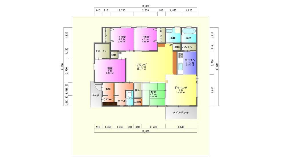 妙円寺団地モデルハウス-平面図