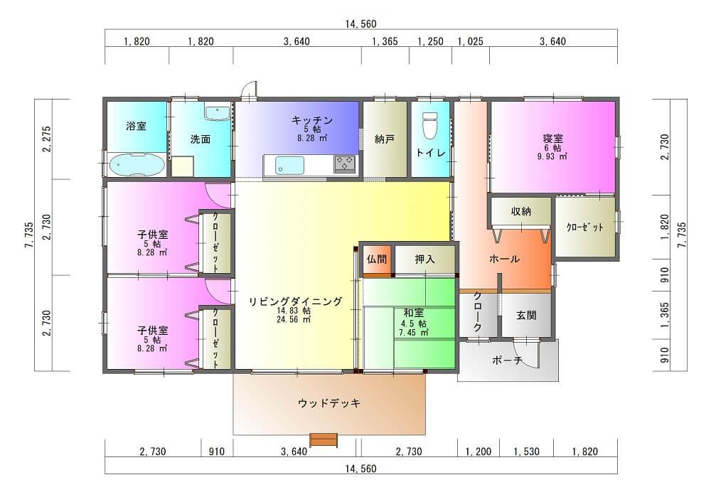 K様邸-平面図( 1 階)