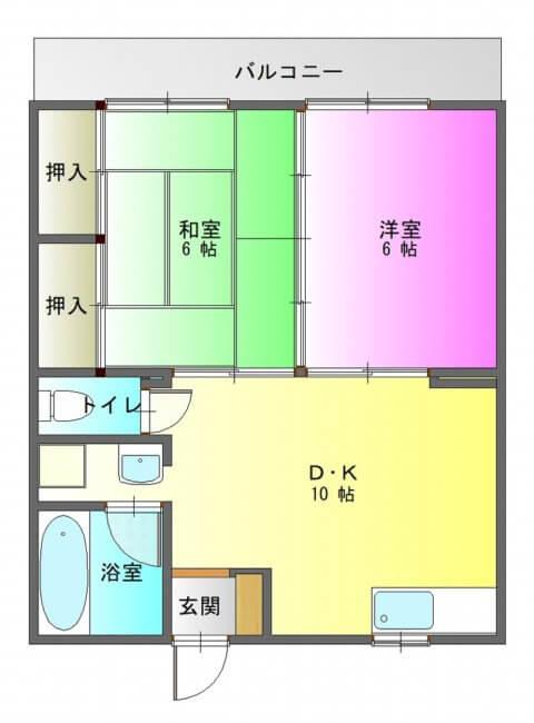 ハイム南陽203-平面図( 1 階)