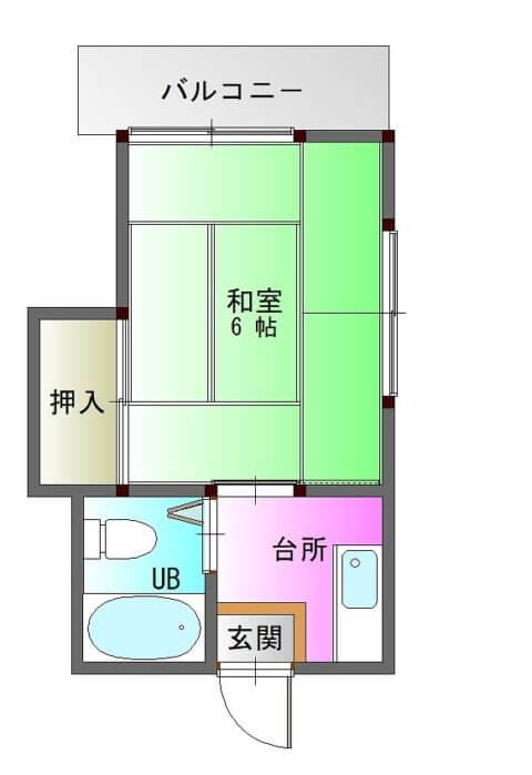 ファーストハイツ新照院205-平面図( 1 階)