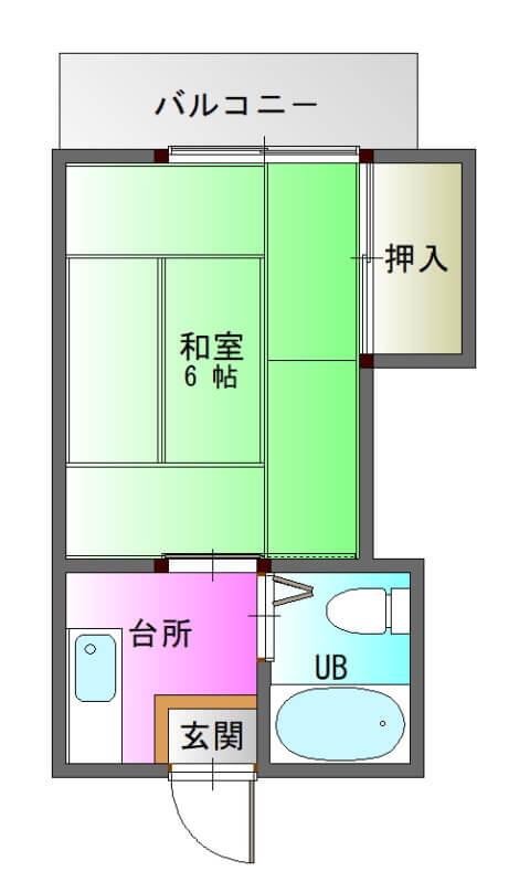 ファーストハイツ新照院203-平面図( 1 階)