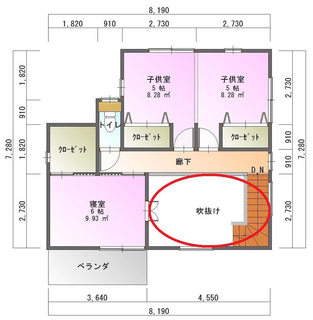 パルタウン大明丘モデルハウス-平面図( 2 階)a