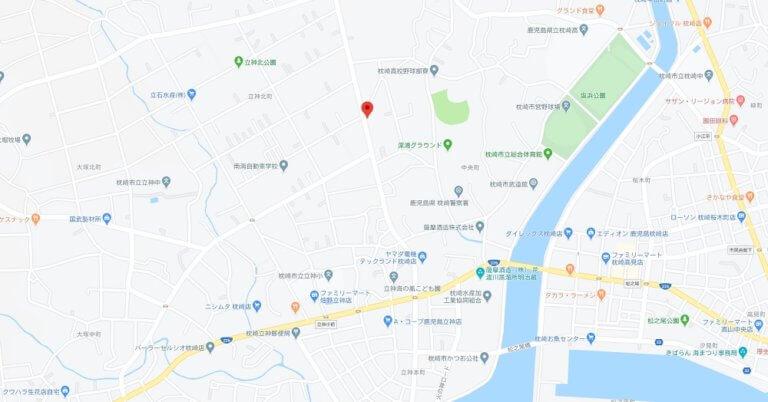 map枕崎市中央町689番地