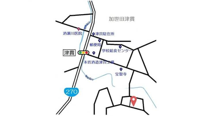 南さつま市加世田津貫11276-7地図