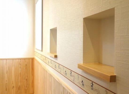 AY様邸廊下飾り棚
