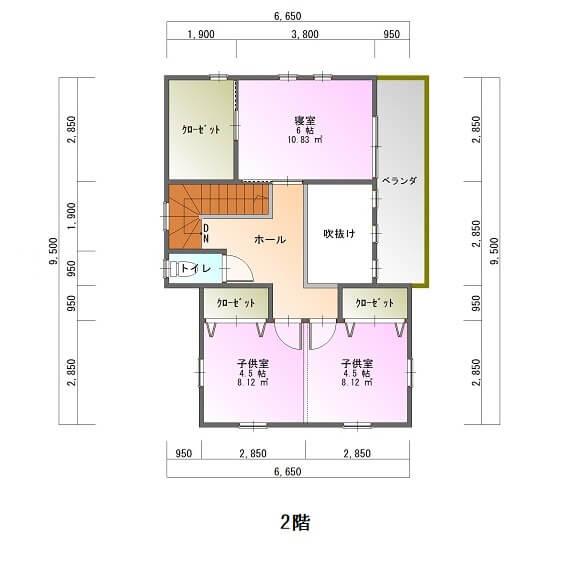 桜ヶ丘ビュータウン-平面図2F