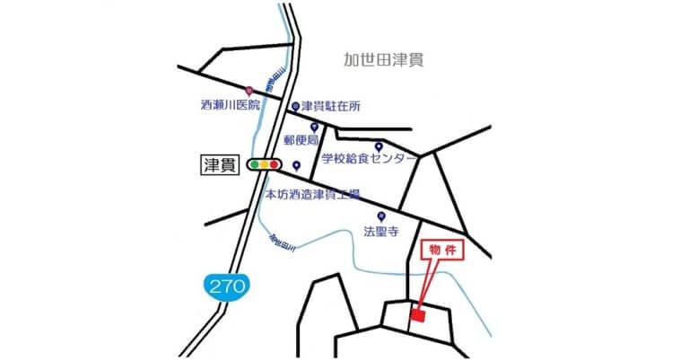 南さつま市加世田津貫11276-7地図b