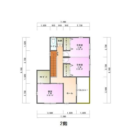 アイリスガーデン吉野モデルハウス-平面図2F