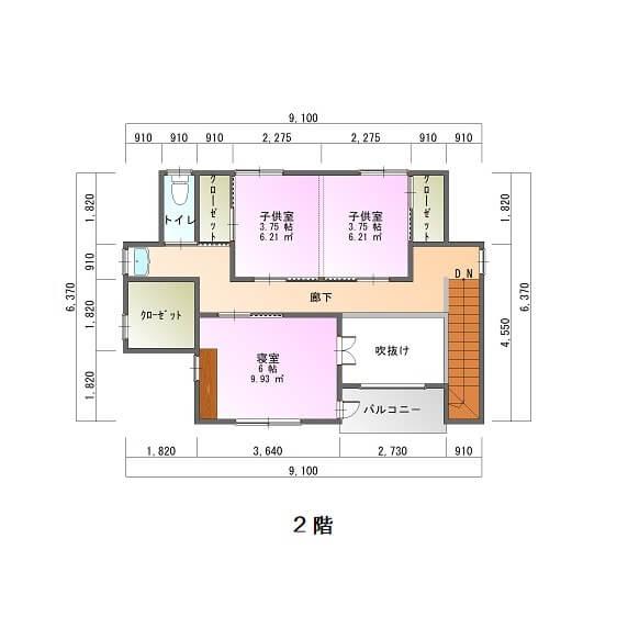 西谷山AY様邸-平面図2F