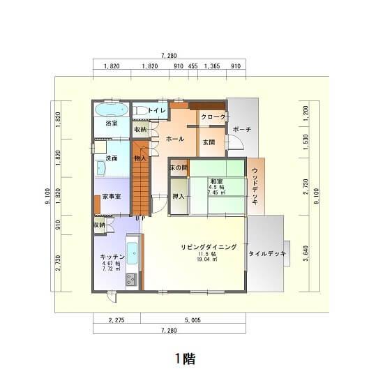 アイリスガーデン吉野モデルハウス-平面図1F