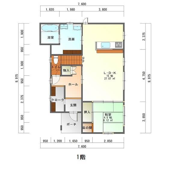桜ヶ丘ビュータウン-平面図1F