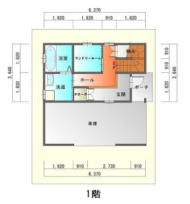 新栄町3階建て-平面図1F