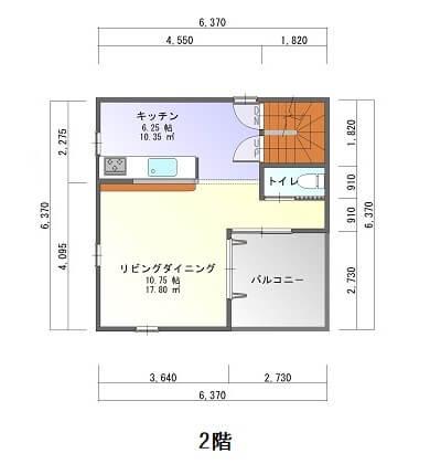 新栄町3階建て-平面図2F