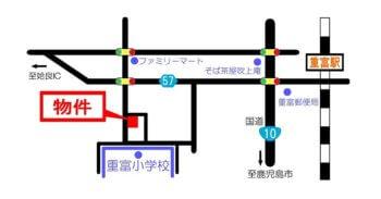 map姶良市平松重富新築建売