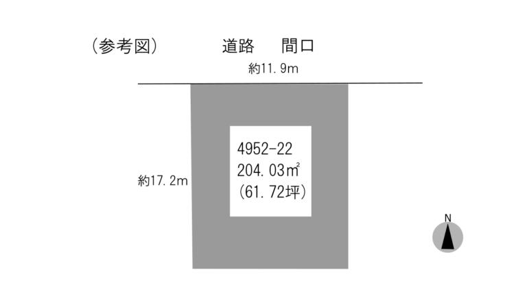 物件形状参考図吉野町4952-22