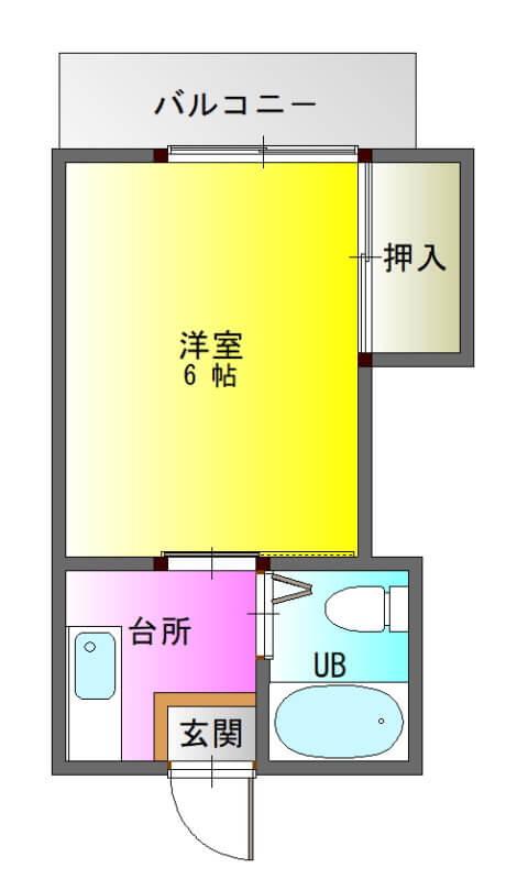 ファーストハイツ新照院303-平面図( 1 階)