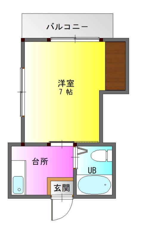 ファーストハイツ新照院201-平面図( 1 階)