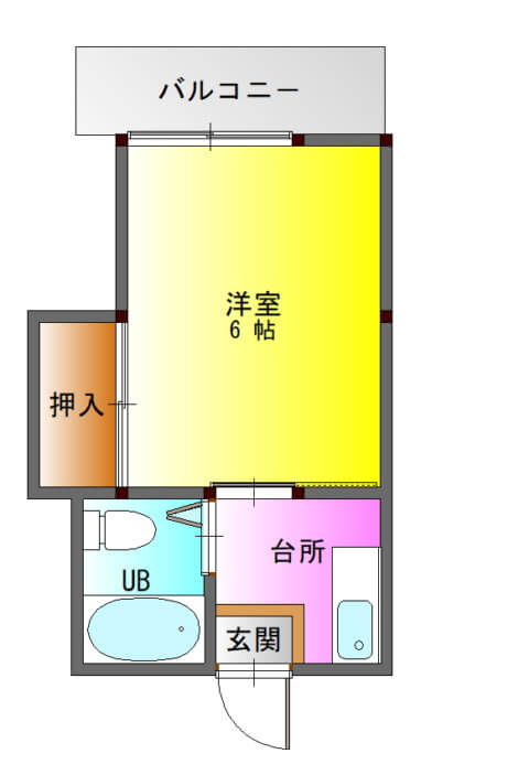 ファーストハイツ新照院302-平面図( 1 階)