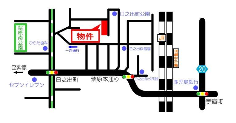 map日之出町3880番地分譲地