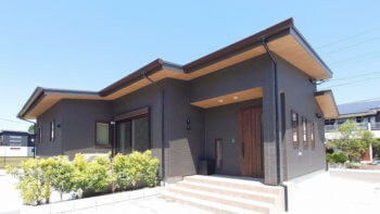 妙円寺平屋モデルハウス外観