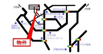 map妙円寺平屋建てモデルハウス